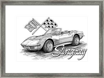 1972 Corvette Framed Print by Rod Seel
