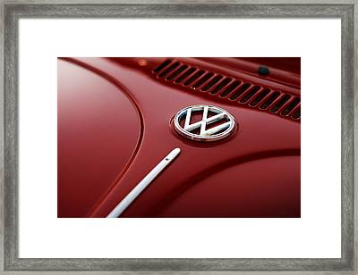 Framed Print featuring the photograph 1973 Volkswagen Beetle by Gordon Dean II