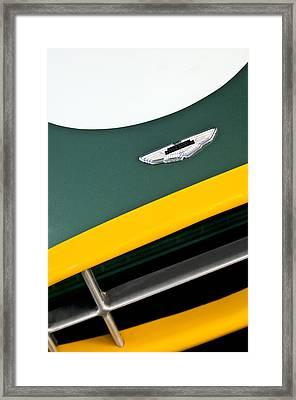 1993 Aston Martin Dbr2 Recreation Hood Emblem Framed Print by Jill Reger