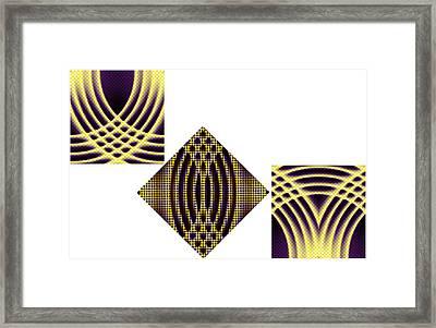 3 Square Framed Print