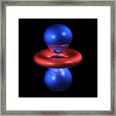 3dz2 Electron Orbital Framed Print by Dr Mark J. Winter