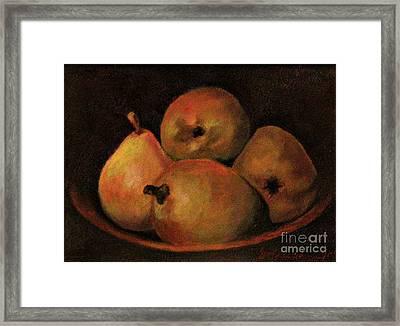 4 Pears Framed Print