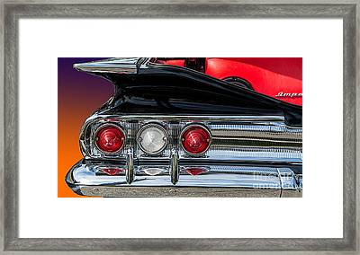 60 Chev Impala Framed Print by Jim  Hatch