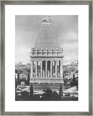 7 Wonders Of The World, Mausoleum Framed Print by Photo Researchers