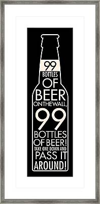 99 Bottles Of Beer Framed Print by Geoff Strehlow