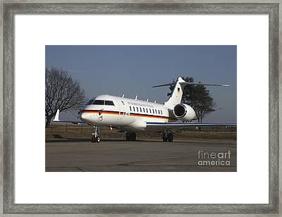 A Bombardier Global 5000 Vip Jet Framed Print