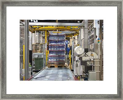 A Bottling Plant In Estonia Framed Print by Jaak Nilson