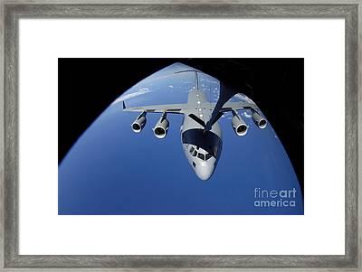 A C-17 Globemaster IIi Receives Fuel Framed Print by Stocktrek Images