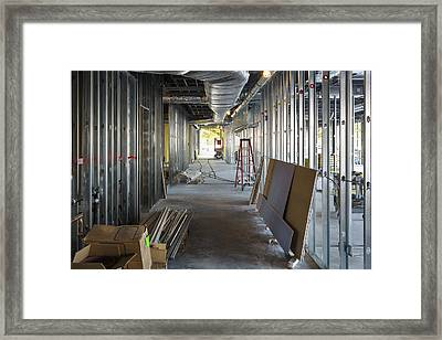 A Commercial Building Framed Print by Don Mason