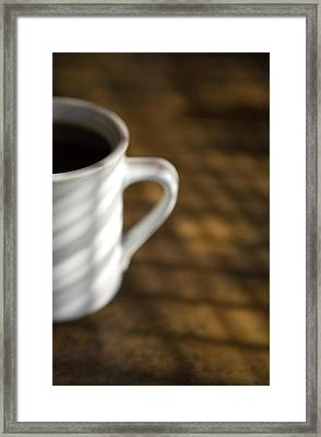 A Cup Of Coffee At A Diner Framed Print by John Burcham