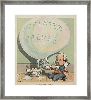 A Dangerous Bubble 1902 Cartoon Framed Print by Everett