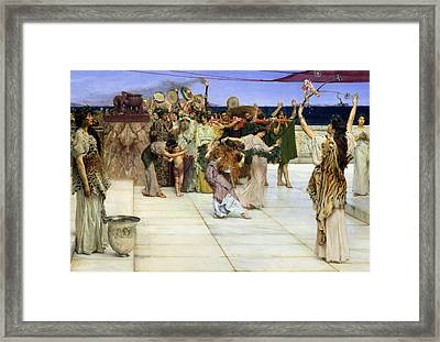 A Dedication To Bacchus Framed Print by Sir Lawrence Alma-Tadema