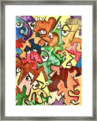 A Face In The Crowd Framed Print by Jame Hayes