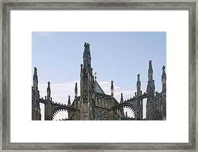 A Forest Of Spires - St Vitus Cathedral Prague Framed Print by Christine Till