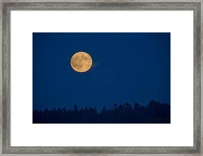 A Full Moon On A Summer Night Framed Print