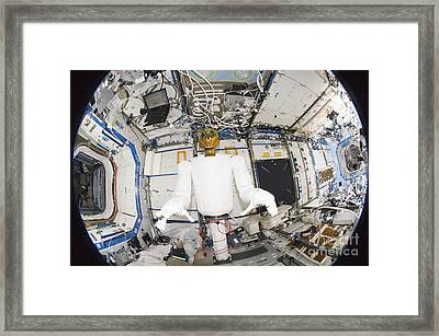 A Humanoid Robot In The Destiny Framed Print