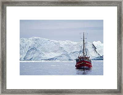 A Midnight Cruise Around The Ilulissat Framed Print by Axiom Photographic