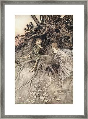 A Midsummer Night's Dream Framed Print by Arthur Rackman