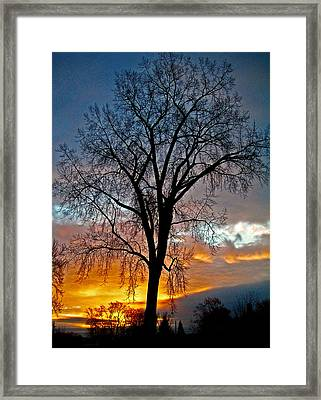 A New Day Begins ... Framed Print by Juergen Weiss