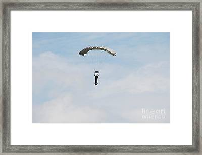 A Paratrooper Of The Belgian Army Framed Print