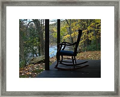 A Perfect Seat Framed Print by Cheryl Perin