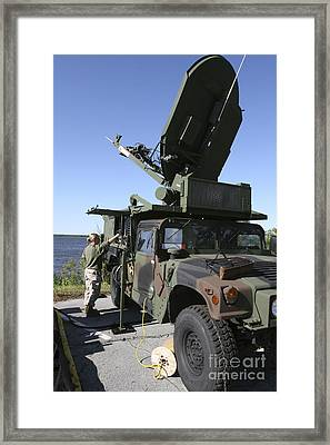 A Phoenix Tactical Satellite Terminal Framed Print by Stocktrek Images