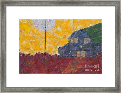 A Quiet Summer's Night On The Farm Framed Print
