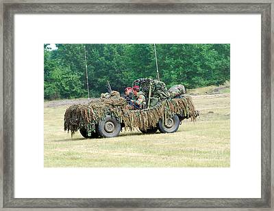 A Recce Unit Of The Belgian Army Framed Print by Luc De Jaeger