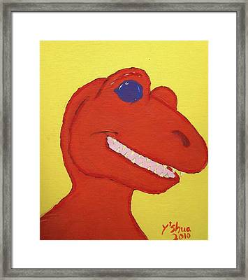 A Saurus Wrex Framed Print by Yshua The Painter