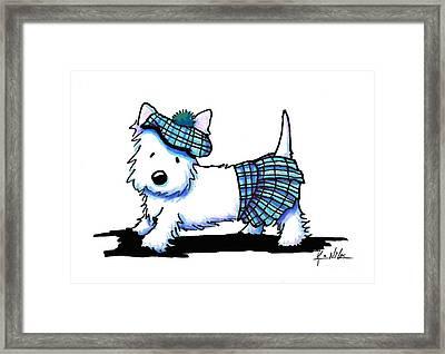 A Stitch In Tam Framed Print by Kim Niles