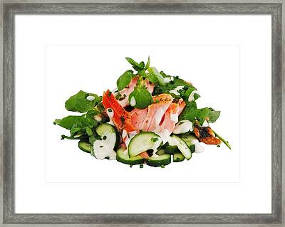 A Summers' Diet Framed Print by Mark Lucey