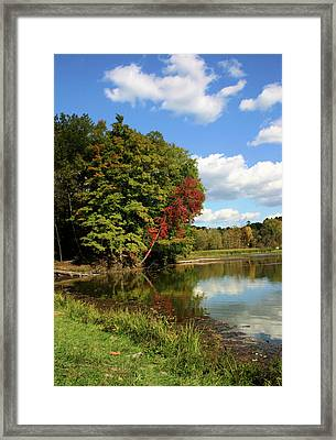 A Touch Of Autumn Framed Print by Kristin Elmquist