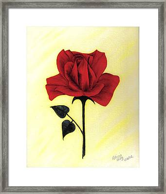 Framed Print featuring the painting A Touch Of Beauty by Patricia Hiltz