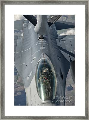 A U.s. Air Force F-16c Fighting Falcon Framed Print by Giovanni Colla