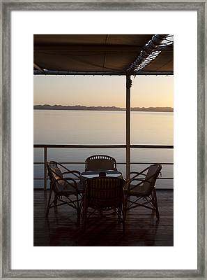 A View From A Cruise Ship On Lake Framed Print by Taylor S. Kennedy