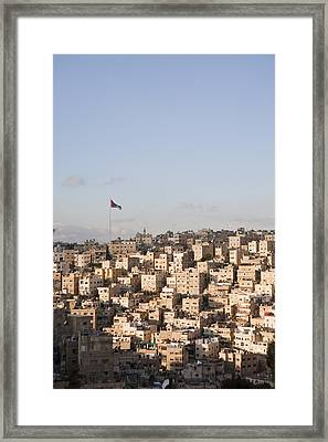 A View Of Amman, Jordan Framed Print by Taylor S. Kennedy