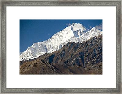 A View Of Dhaulagiri From The North Framed Print by Stephen Sharnoff