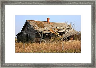 Abandoned Alberta Prairie Home Framed Print by Jim Sauchyn