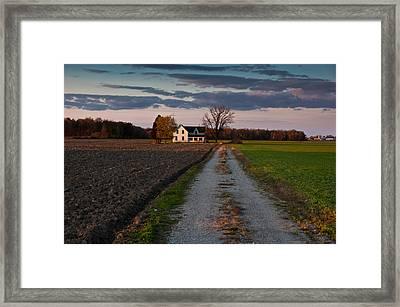 Abandoned Farm House Framed Print