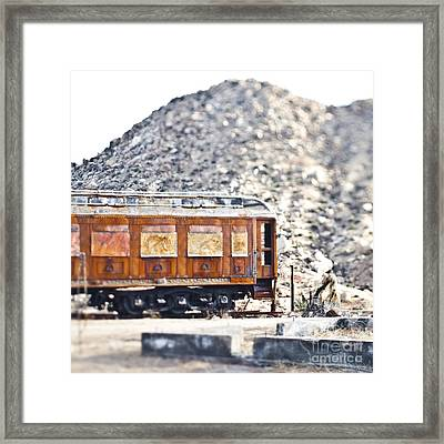 Abandoned Train Car Framed Print by Eddy Joaquim