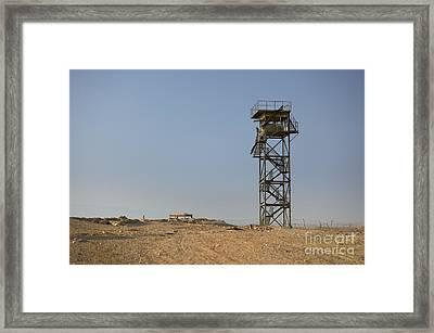 Abandoned Watchtower In The Desert Framed Print by Noam Armonn