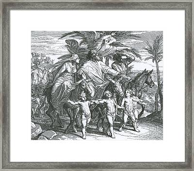 Abraham Sees The Promised Land Framed Print by Photo Researchers