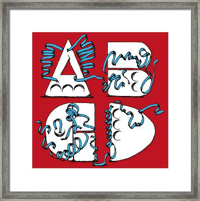 Abstract Abcd Framed Print by Michaela Mitchell