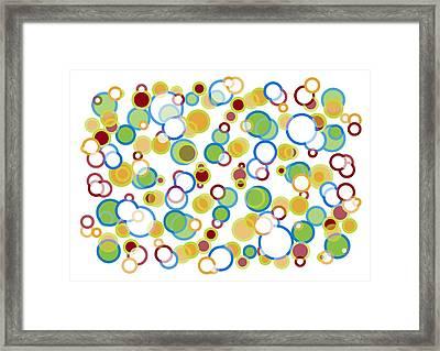 Abstract Circles Framed Print by Frank Tschakert