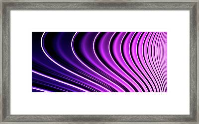 Abstract Curved Lines, Diminishing Perspective Framed Print