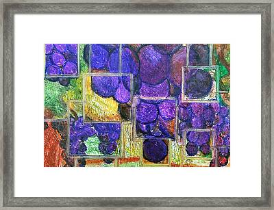 Abstract Vines Framed Print