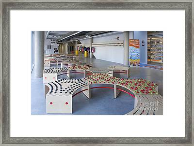 Abstractly Designed Benches Framed Print
