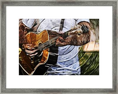 Acoustic Blues Framed Print by Tilly Williams