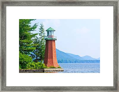 Adirondack Lighthouse Framed Print by Ann Murphy