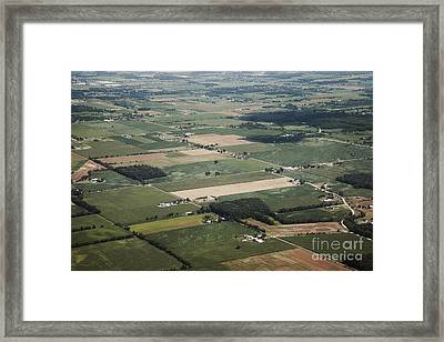 Aerial View Of Landscape Framed Print by Shannon Fagan
